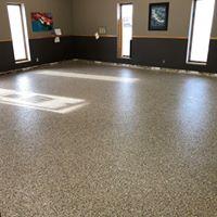 epoxied floor